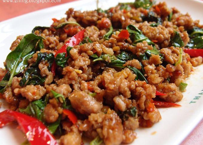 Pad Kaprao Moo (Stir-fried Pork with Basil Leaf)
