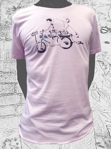 Going Surfing Baby Pink. Another collaboration between nusa and bali artist Jeguh. For confident surfers. Wear your helmets though. Open neck cut. 100% fine cotton