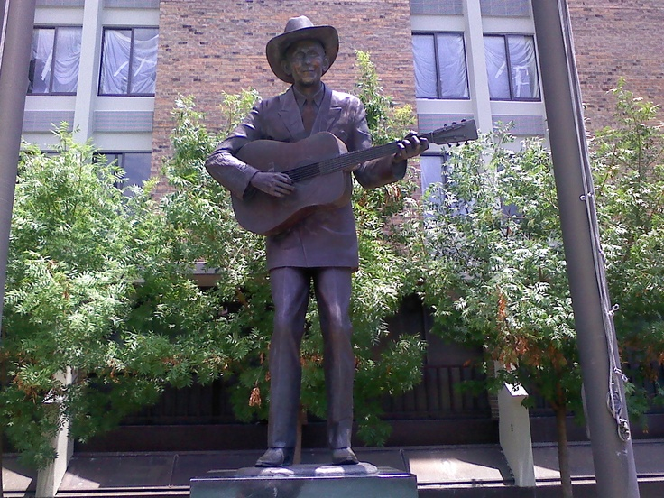Hank Williams Jr statue in Montgomery, Al