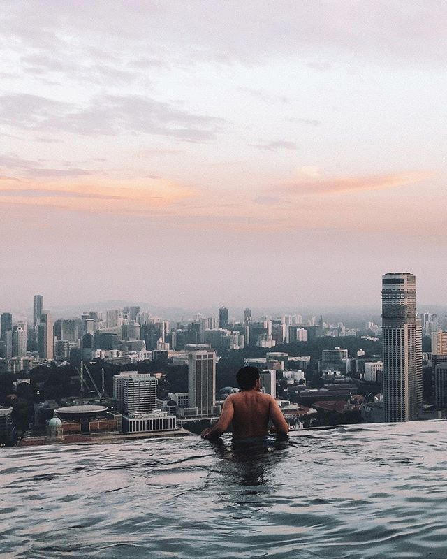 Amazing Sunrise View From The Highest And Largest Rooftop Infiniti