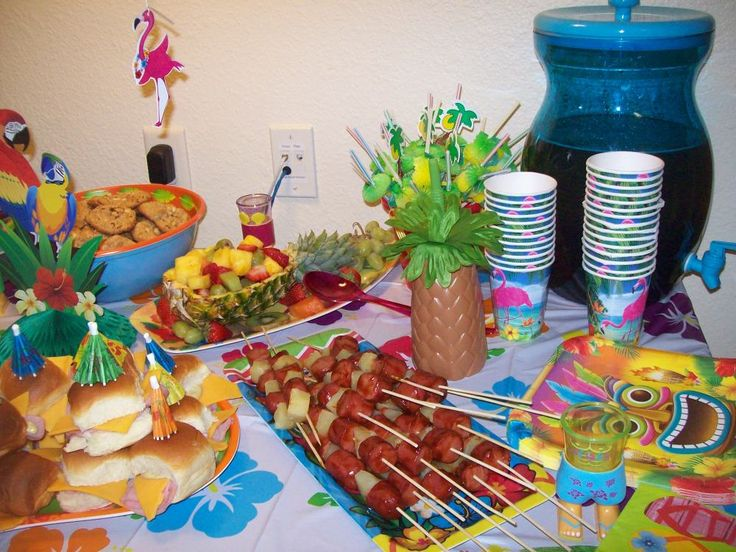 Luau Party Foods