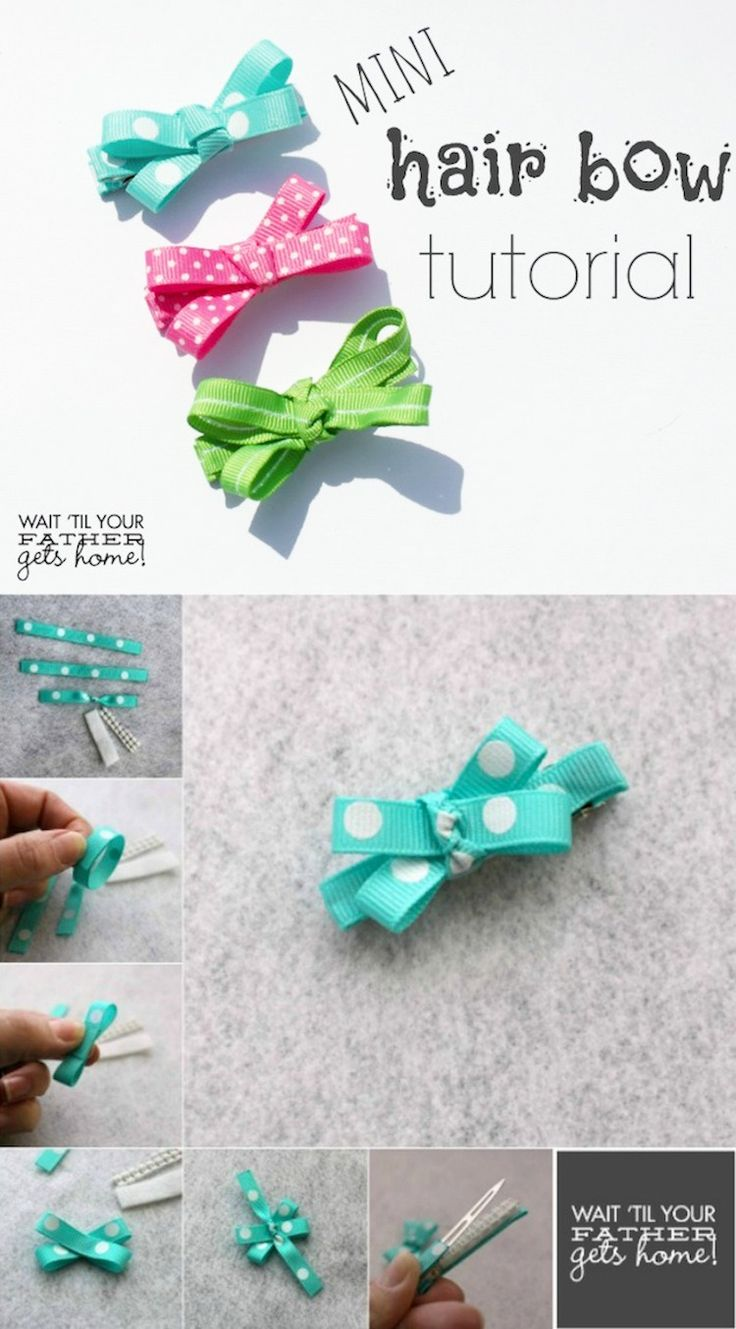 Mini Hair Bow Tutorial- A super cute {not to mention VERY easy} tutorial to make mini hair bows for any little lady in your life.