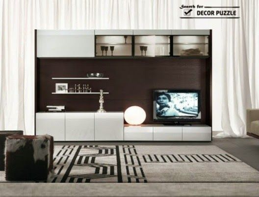 tv wall cabinets modern tv wall unit designs - Modern Tv Wall Design