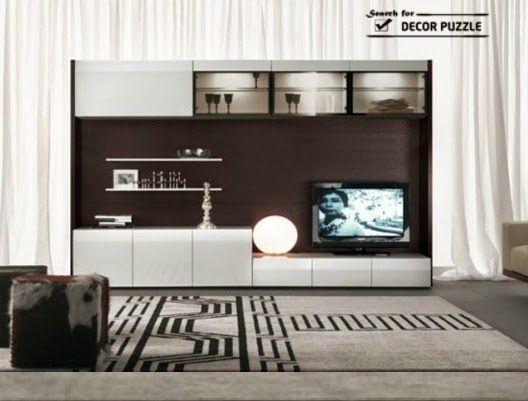 tv wall cabinets modern tv wall unit designs - Modern Tv Wall Design
