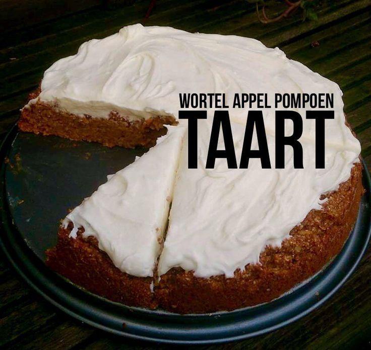 Wortel appel pompoencake