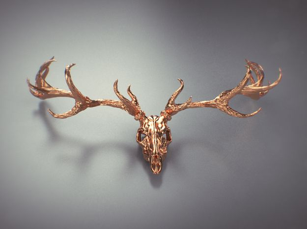 Deer bone head  3d printed