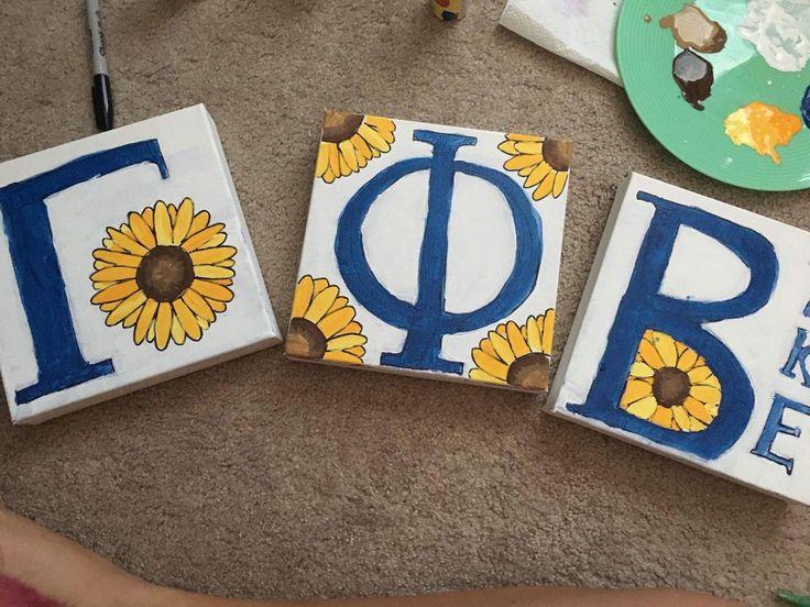 Sunflower greek letters U of SC Gamma Phi Beta