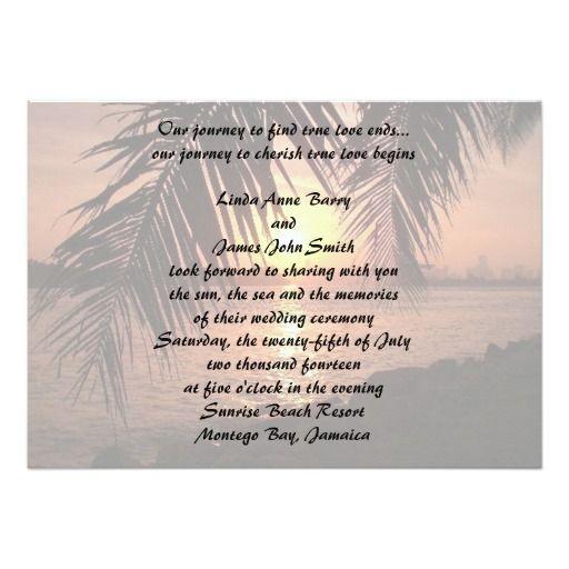 527 best Beach Wedding Invitations images on Pinterest