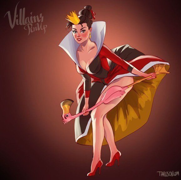 Disney Villains pin up 6 (Queen of Hearts - Alice in Wonderland)
