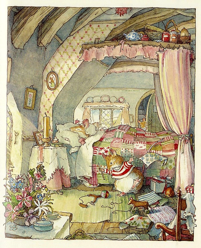 Brambly Hedge by Jill Barklem my fave. Kids books. I still have them all. X