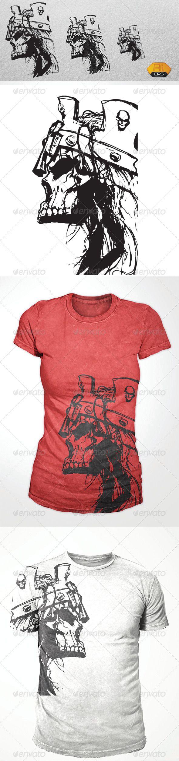 T shirt design jquery - Dead King Skull