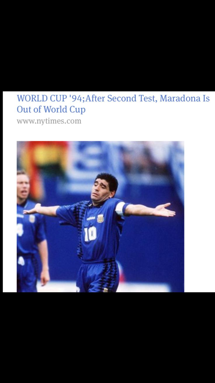 Kicked out of 1994 World Cup