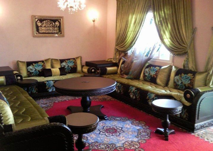 56 best images about salon marocain on pinterest cuisine convertible and decorating ideas. Black Bedroom Furniture Sets. Home Design Ideas