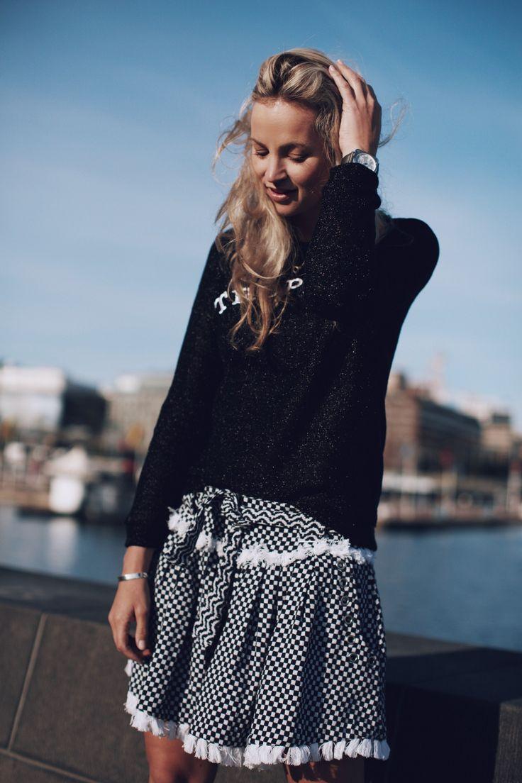 Summer fashion style, Zoe Karssen Tropique, Skirt Dodo Bar Or, Sneakers #mybmb Bell & Ross watch #anoukyve #bellross #bellandross