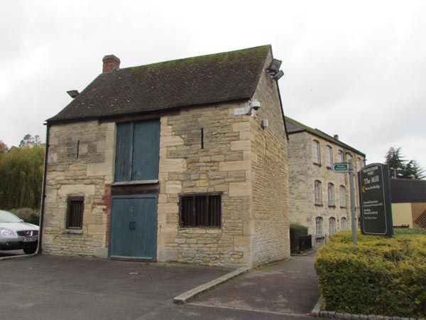 The Salt Store is a square two storey, tone building with central double doors on the ground and first floor. The windows on the ground floor are barred and the upper windows just have narrow slits.