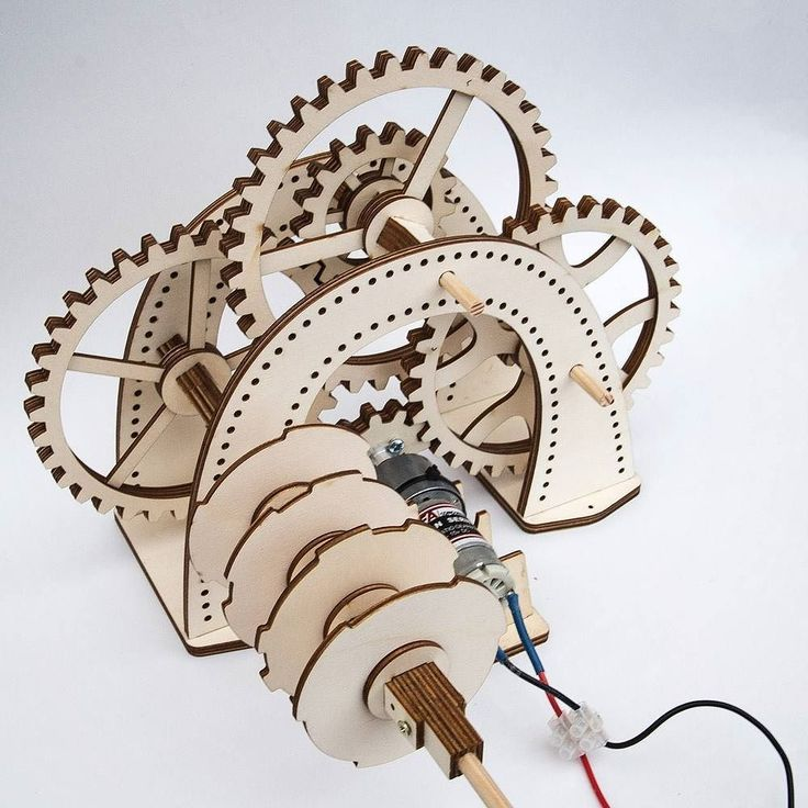 Gear Box And Rotor Ready For Placement Lasercut