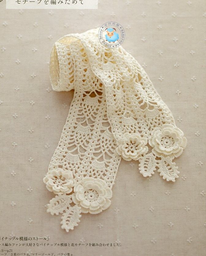 Irish Lace Knitting Pattern : 9784529050821-010.jpg: Crochet Knitting, Irish Crochet, Craft, Crochet Scarve...