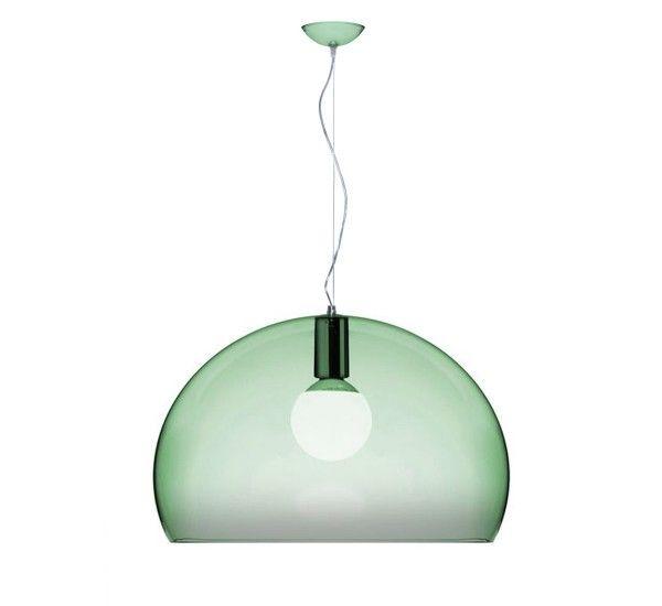 FL/Y è una lampada a sospensione di Ferruccio Laviani per Kartell. Realizzato in PMMA in numerosi colori. Oggi nella nuovissima versione Big.  Lampada essenziale che si caratterizza per le