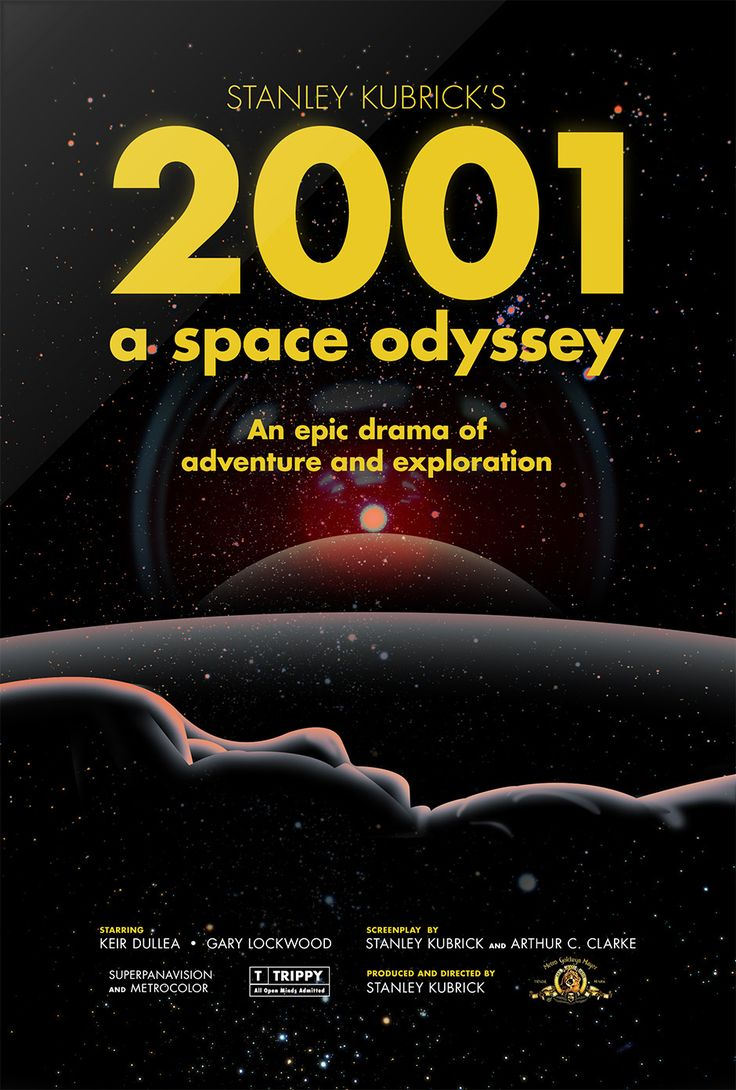 "2001: A Space Odyssey is a 1968 epic science fiction film produced and directed by Stanley Kubrick. The screenplay was written by Kubrick and Arthur C. Clarke,  inspired by Clarke's short story ""The Sentinel"". The film deals with a series of encounters between humans and mysterious black monoliths that are apparently affecting human evolution, and a voyage to Jupiter tracing a signal emitted by one such monolith found on the Moon. http://en.wikipedia.org/wiki/2001:_A_Space_Odyssey_(film)"
