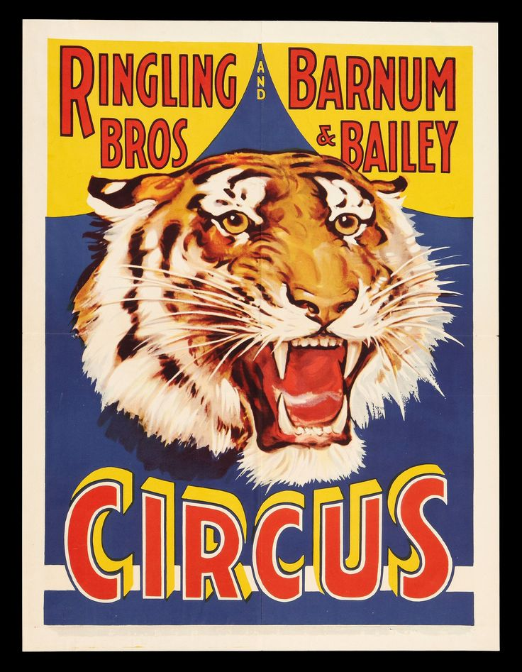 Ringling Bros Poster #retro #poster #circus                                                                                                                                                                                 More