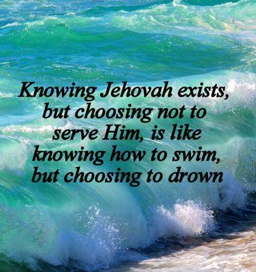 "Exactly. Why would you not""just keep swimming""? Well keep serving Jehovah! SLReflections Photography"