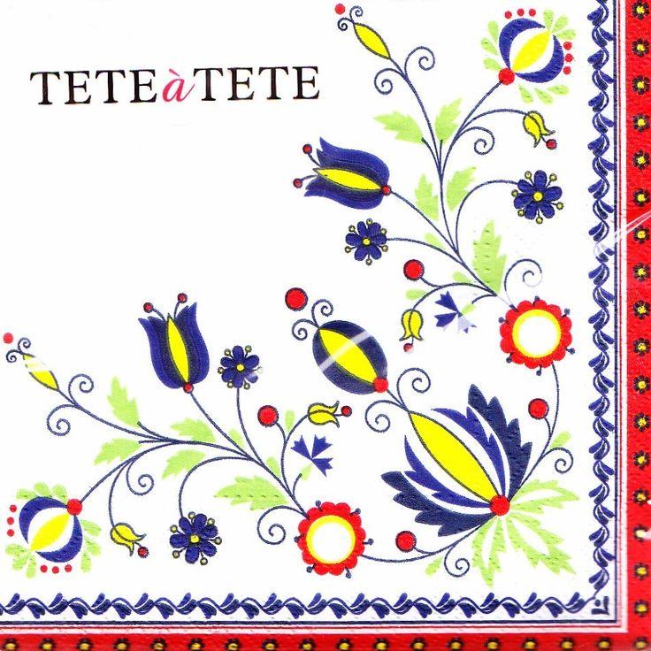 Serwetki - wzory folkowe - haft kaszubski :: Czec Kaszubskie i pomorskie książki i upominki. Niezwykłe pamiątki ludowe, których jesteśmy producentem.
