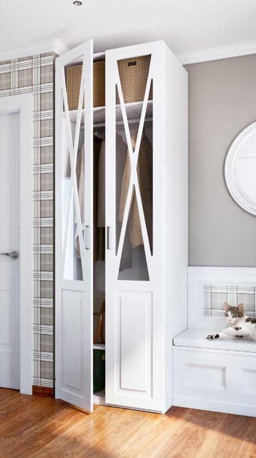 aprovechar el espacio del recibidor es posible un armario donde colocar elementos de uso diario