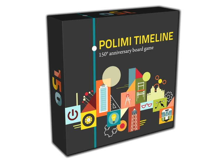 POLIMI TIMELINE  A boardgame created for the 150th anniversary of Politecnico di Milano, a famous Italian university. Illustrations by Chiara Vercesi