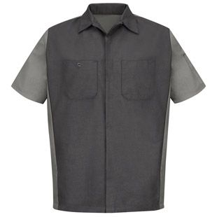 Red Kap Men's Short Sleeve Mechanics Crew Shirt - Automotive Workwear