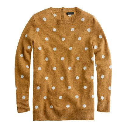 Really need to work on curbing my obsession with all things polka dots --> J Crew collection cashmere polka-dot sweater