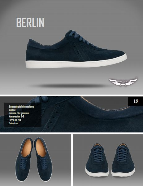 #Calzado modelo berlin, color azul. #moda