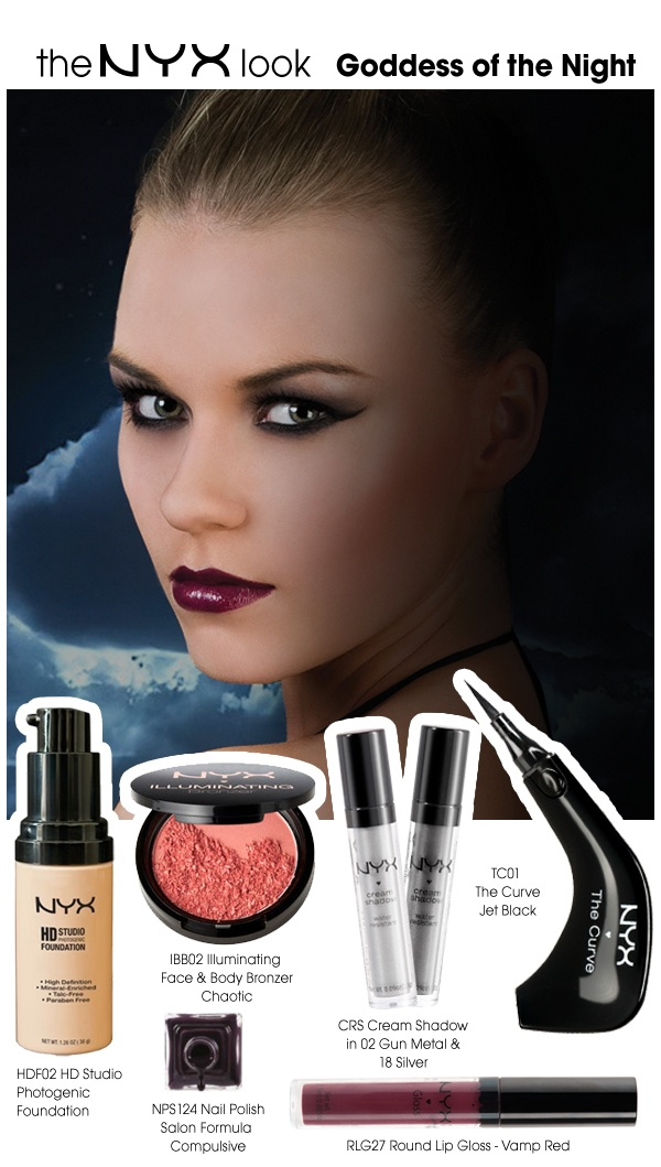 Who's seen the stunning new Miss NYX look for September? Here are all the products used to recreate the look, featuring our brand new product... The Curve! And Autumns hottest lip shade!! All products available on the NYX UK website http://www.nyxcosmetics.co.uk/