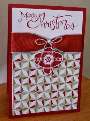 I need to do a Christmas card class!!! This would be super fast, and it is beautiful. Stampin' Up Christmas Collectibles