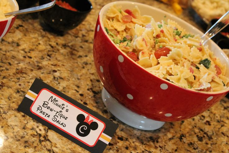 Mickey Mouse Clubhouse Birthday Party   Minnie's Bow-tique Pasta Salad