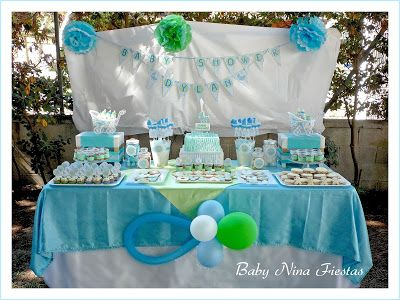 Mesa dulce baby shower ni o party pinterest dulces for Mesa baby shower nino