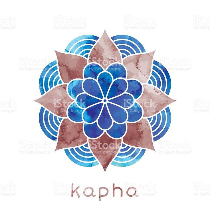 Kapha dosha Ayurvedic body type royalty-free stock vector art