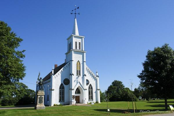 Church in Malpeque,Prince Edward Island,Canada