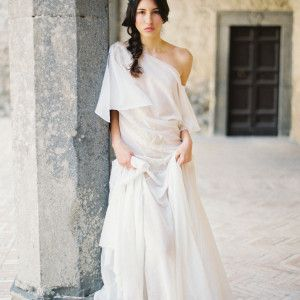 wedding dress fashion shoot in italy