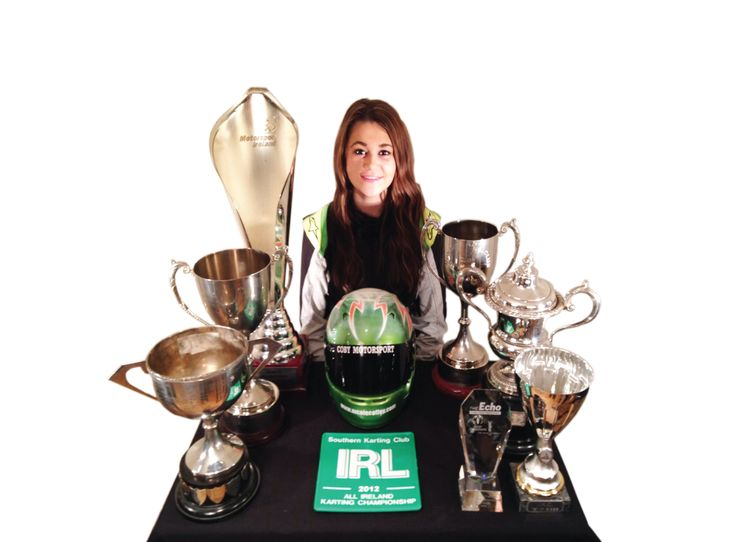 Nicole Coffey, Racing Driver - With just some of her Championship Trophies. A girl who can compete & beat guys in the ultimate guys sport ! An incredibly talented driver & a really lovely person ! Proud to know her, a joy to watch her !