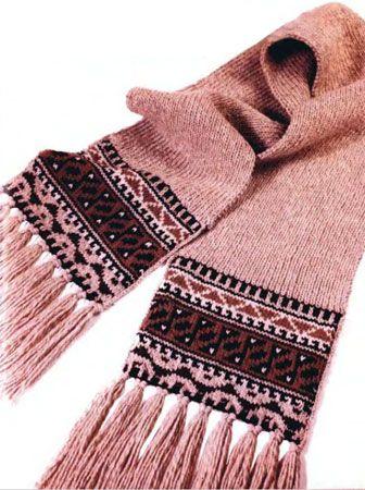 Турецкий шарф с бахромой