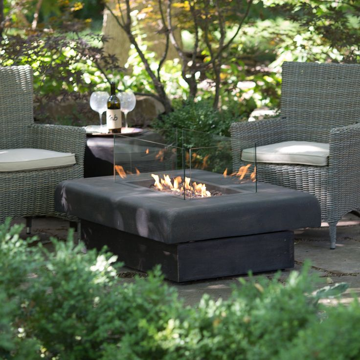 Red Ember Kona 48 Gas Fire Table with FREE Fire Pit Cover | from hayneedle.com