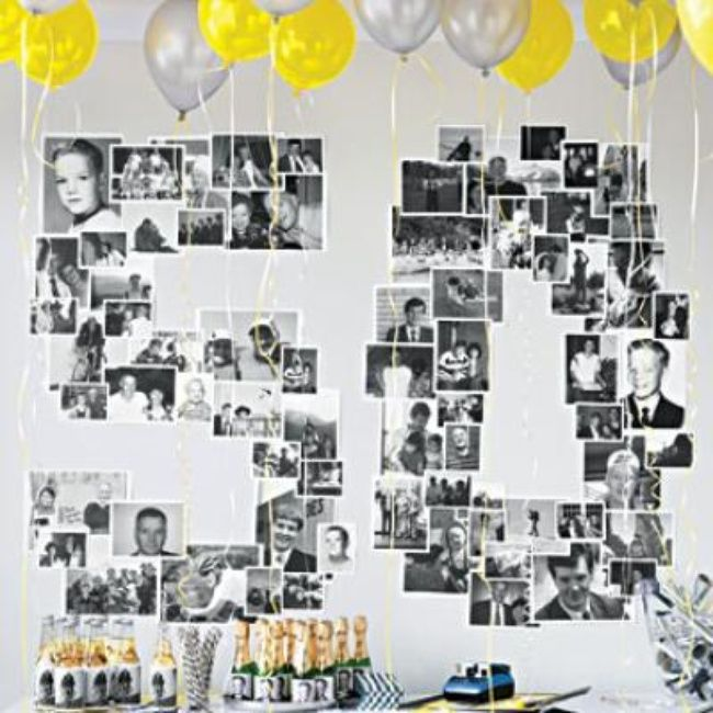 50th Birthday Party Decorating Ideas | Picture-Perfect 50th Birthday {Party Decor} - Tip Junkie