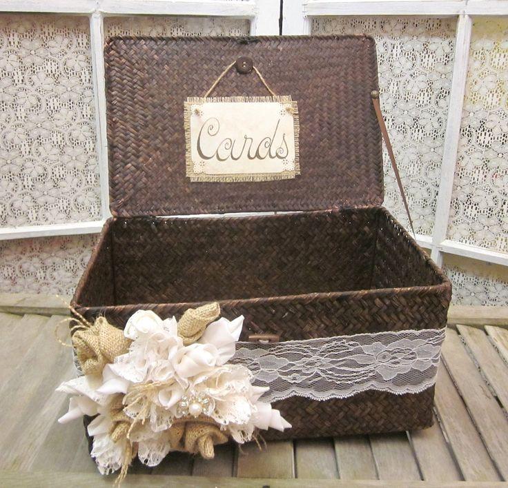 Lacey Rustic Wedding Card Holder. $65.00, via Etsy.