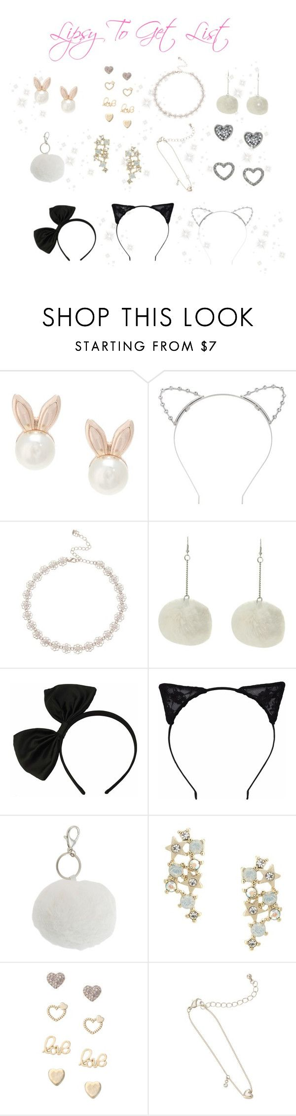 """♡ Ariana Grande Lipsy Jewelry To Get List ♡"" by kaylalovesowls ❤ liked on Polyvore featuring Lipsy"