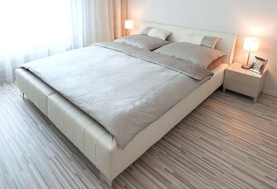Striped Grey Laminate Flooring In Master Bedroom Ideas Floor