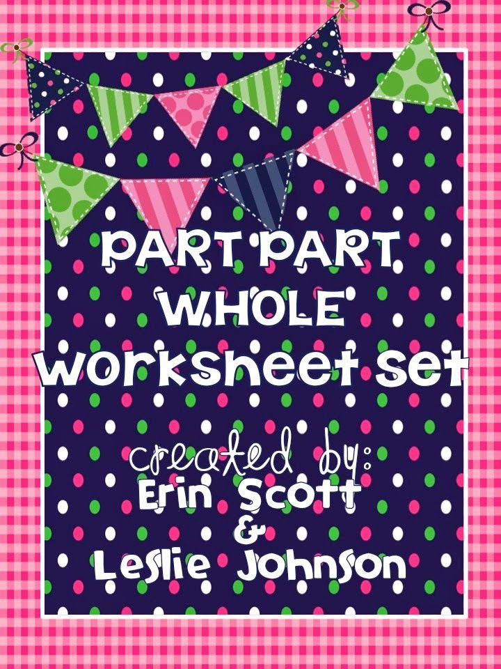First Grade Fanatics Part Part Whole Worksheet Set Addition