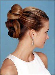 coiffure mariée chignon haut