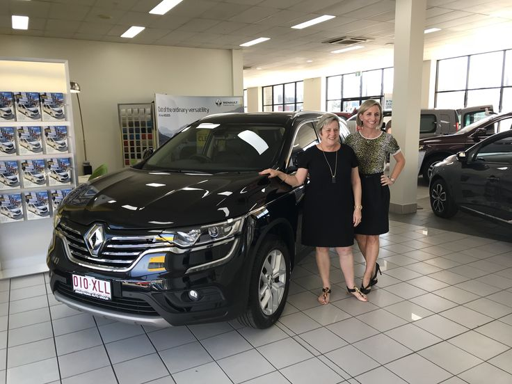 Joy picking up her new Renault Koleos Zen...