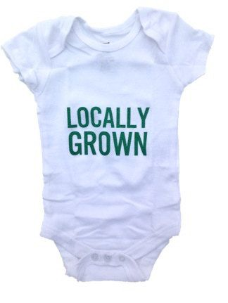 Baby Bodysuit Crawler Locally Grown Level Apparel by LevelApparel