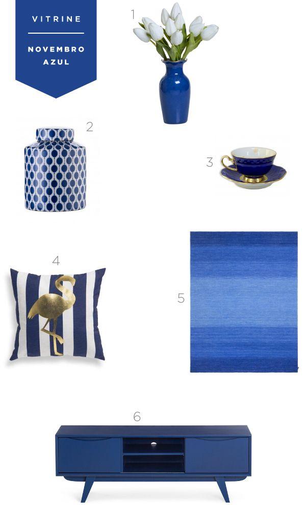 Rack, set de xícara, vaso, almofada e tapete são alguns dos itens que separamos em homenagem ao Novembro Azul. Vem ver de onde são!